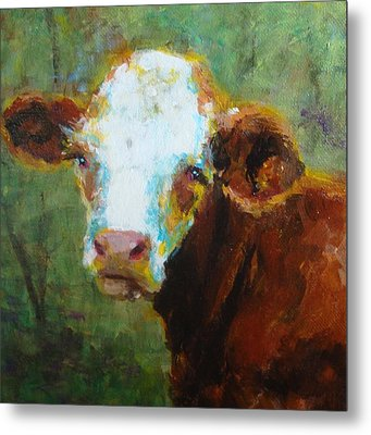 Metal Print featuring the painting Daisy by Susan Fisher