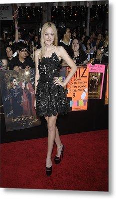 Dakota Fanning Wearing A Valentino Metal Print by Everett