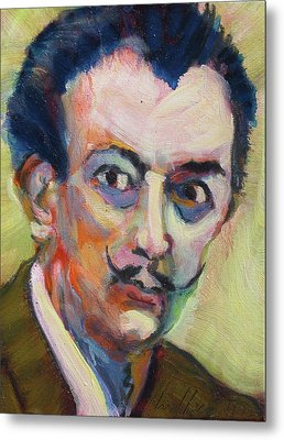 Metal Print featuring the painting Dali by Les Leffingwell