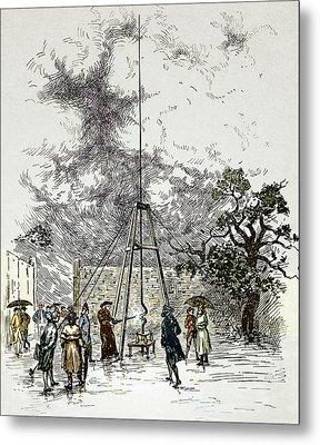Dalibard's Lightning Experiment, 1752 Metal Print