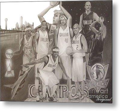 Dallas Mavericks Champs Metal Print by Teriginal Washington
