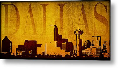 Dallas Metal Print by Ricky Barnard