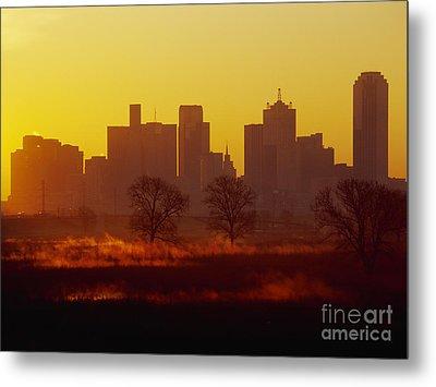Dallas Skyline At Sunrise Metal Print by Jeremy Woodhouse