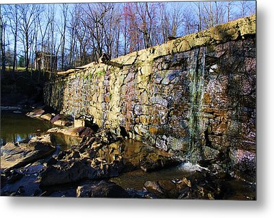 Metal Print featuring the photograph Dam On The River Haw by Bob Whitt