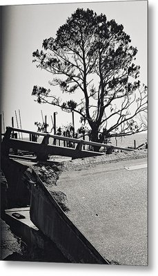 Damaged Bridge Metal Print by Floyd Smith
