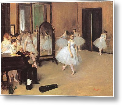 Dance Class Metal Print by Edgar Degas