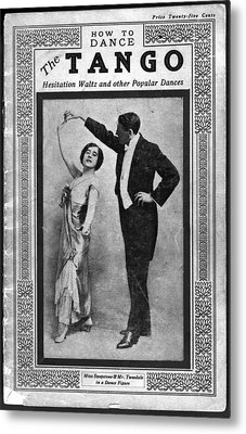 Dance Manual For The Tango, Hesitation Metal Print by Everett