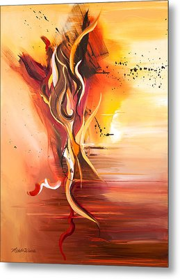 Dance Of Passion Metal Print by Michelle Wiarda-Constantine