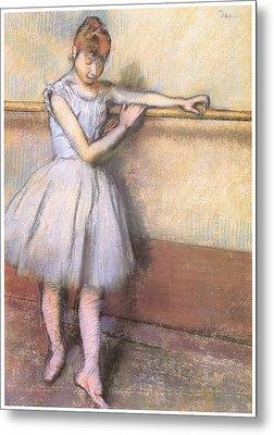 Dancer At The Bar Metal Print by Edgar Degas