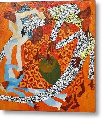 Dancers IIi Metal Print by Anina von Wachtel Diani Beach Art Gallery