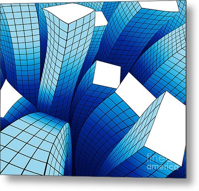 Dancing Buildings Metal Print