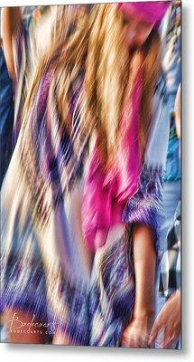 Dancing Hippie Metal Print by Robin Lewis