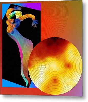 Metal Print featuring the digital art Dancing In Circle by Asok Mukhopadhyay