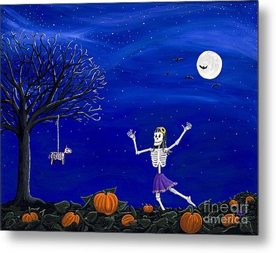 Dancing In The Pumpkin Patch  Metal Print