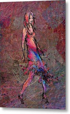 Dancing The Nights Metal Print by Rachel Christine Nowicki