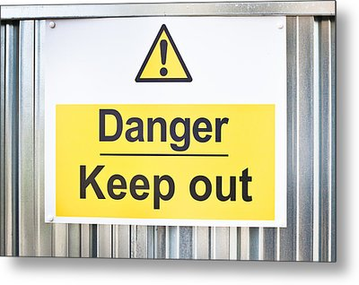 Danger Sign Metal Print