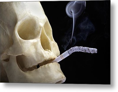 Dangers Of Smoking, Conceptual Image Metal Print by Victor De Schwanberg