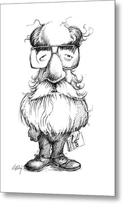 Daniel Dennett, Us Cognitive Scientist Metal Print by Gary Brown