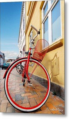 Danish Bike Metal Print by Robert Lacy