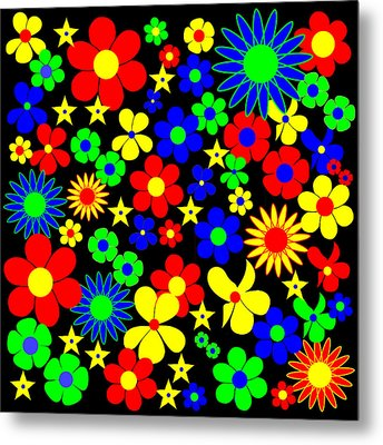 Danish Flowers Flora Danica Square Metal Print by Asbjorn Lonvig