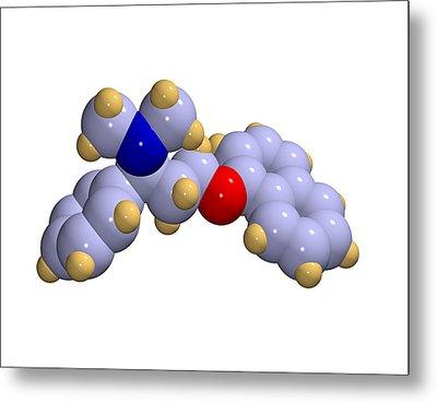 Dapoxetine Premature Ejaculation Drug Metal Print by Dr Mark J. Winter