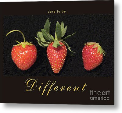 Dare To Be Different Metal Print by Patricia Overmoyer