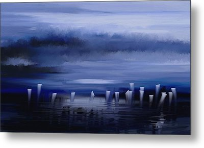Metal Print featuring the painting Dark Mist by Eleonora Perlic