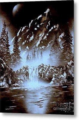 Dark Mountain Metal Print by Greg Moores