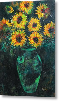 Darkened Sun Metal Print by Carrie Jackson