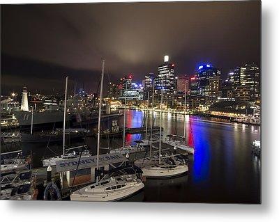Darling Harbor Sydney Skyline 2 Metal Print by Douglas Barnard