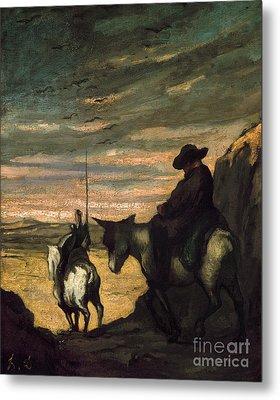 Daumier: Quixote, 1866-68 Metal Print