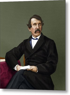 David Livingstone, Scottish Explorer Metal Print by Maria Platt-evans