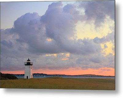 Dawn At Long Point Lighthouse Metal Print by Roupen  Baker