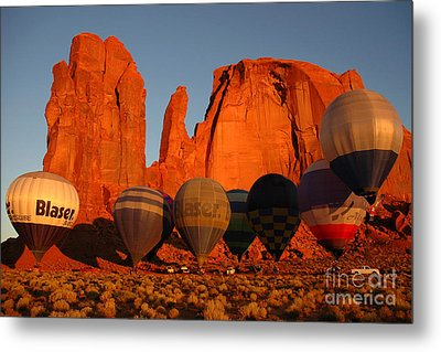 Dawn Flight In Monument Valley Metal Print by Vivian Christopher