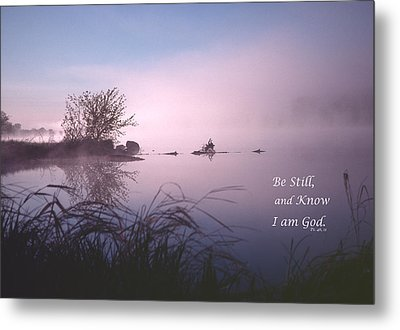 Dawn On The Chippewa River Metal Print