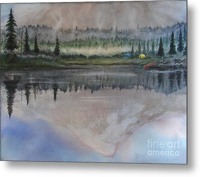 Dawn Reflections Metal Print by Ronald Tseng