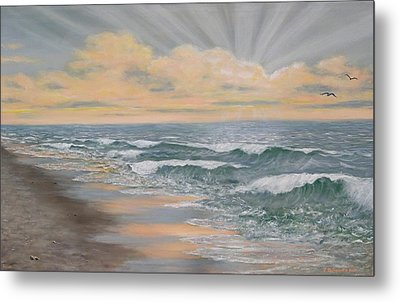Dawn Surf Metal Print
