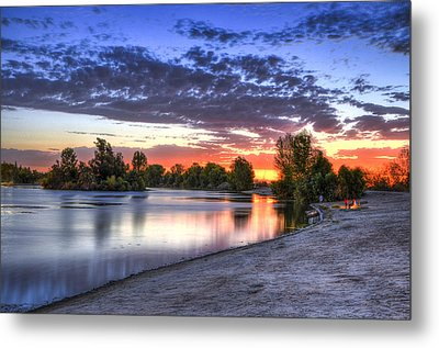 Metal Print featuring the photograph Day At The Lake by Marta Cavazos-Hernandez