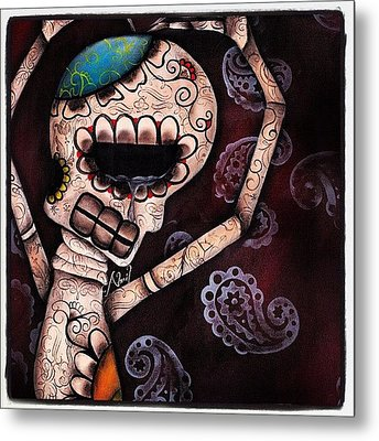 Day Of The Dead Painting - Huge 20x30 Metal Print by  Abril Andrade Griffith