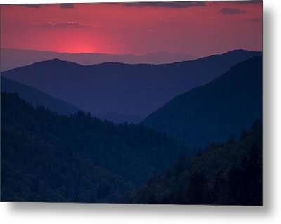 Day Over In The Smokies Metal Print