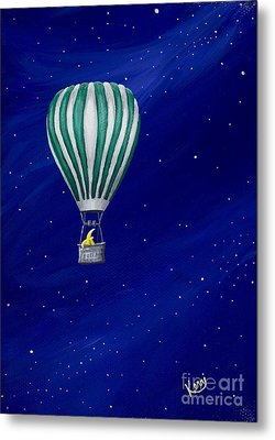 Daydreaming In A Hot Air Balloon Metal Print by Kerri Ertman