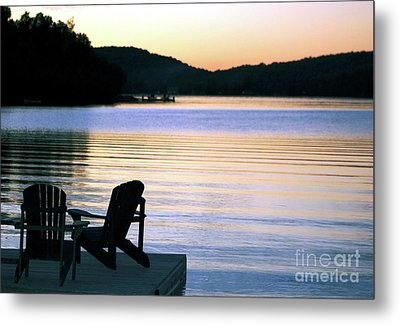 Day's End At The Lake Metal Print