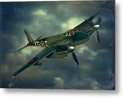 Metal Print featuring the photograph De Haviland Mosquito by Steven Agius