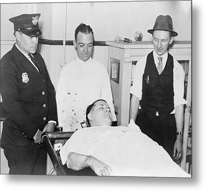 Dead Body Of Charles Pretty Boy Floyd Metal Print by Everett