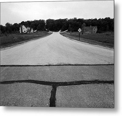 Dead End On Highway C Metal Print by Jan W Faul