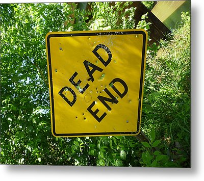 Metal Print featuring the photograph Dead End Target by Douglas Fromm