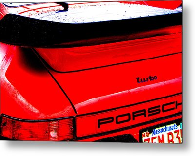 Metal Print featuring the photograph Dead Red Turbo by John Schneider