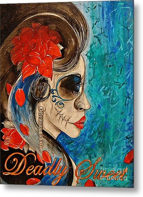 Metal Print featuring the painting Deadly Sweet by Sandro Ramani