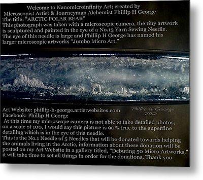 Debuting Arctic Polar Bear Sewing Needle Metal Print