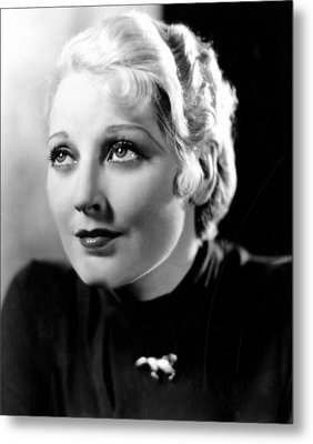 Deception, Thelma Todd, 1932 Metal Print by Everett